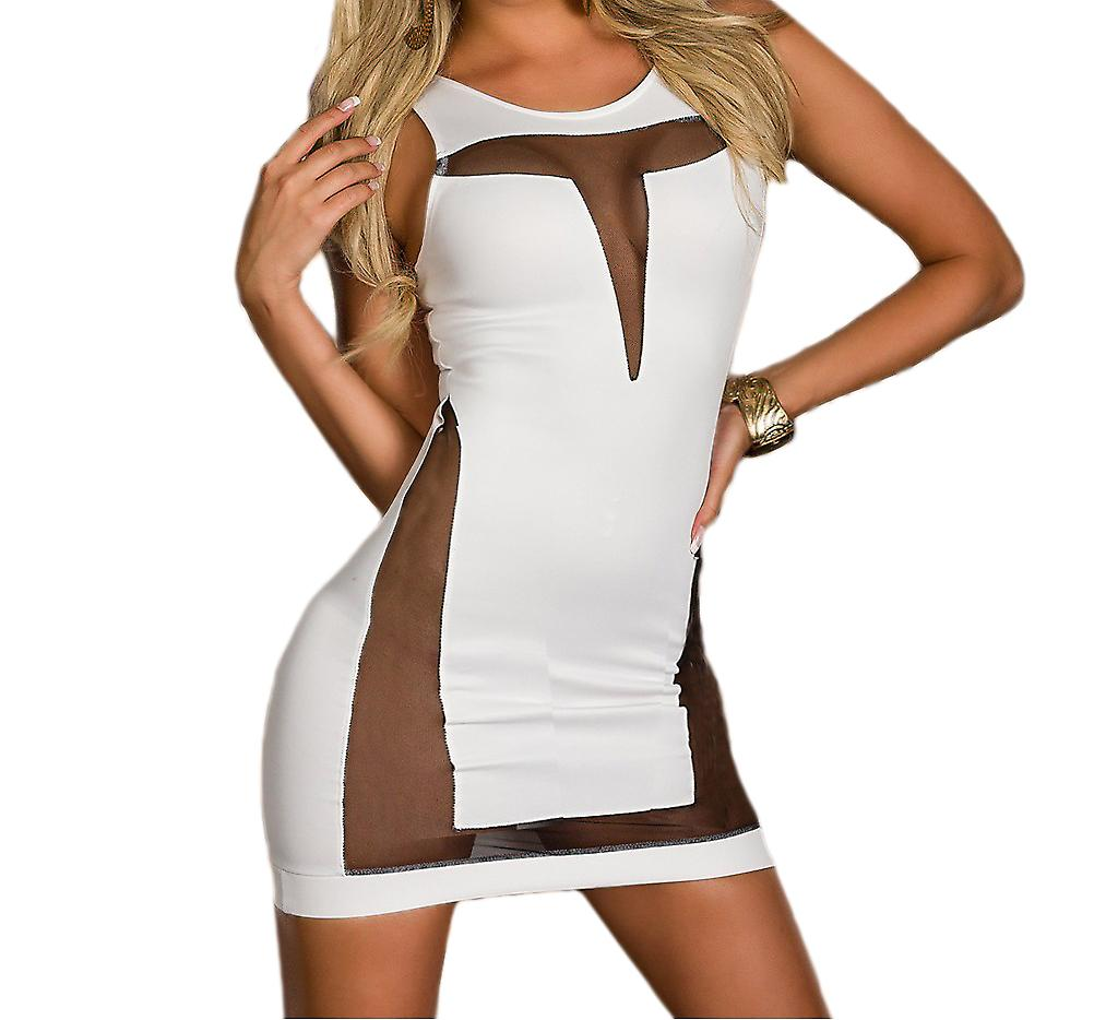 Waooh - Sexy Fashion - Tight Mini Dress bi-material
