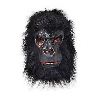 Gorilla (Latex) mit schwarzen Haaren.