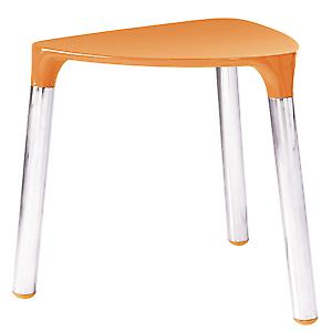 Gedy Yannis Tabouret orange de chrome 2172 67