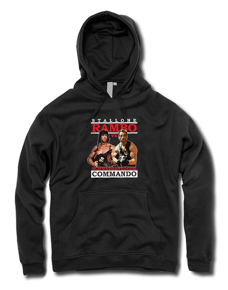 Mens Hoodie - Rambo eller Commando - Action - hjälte