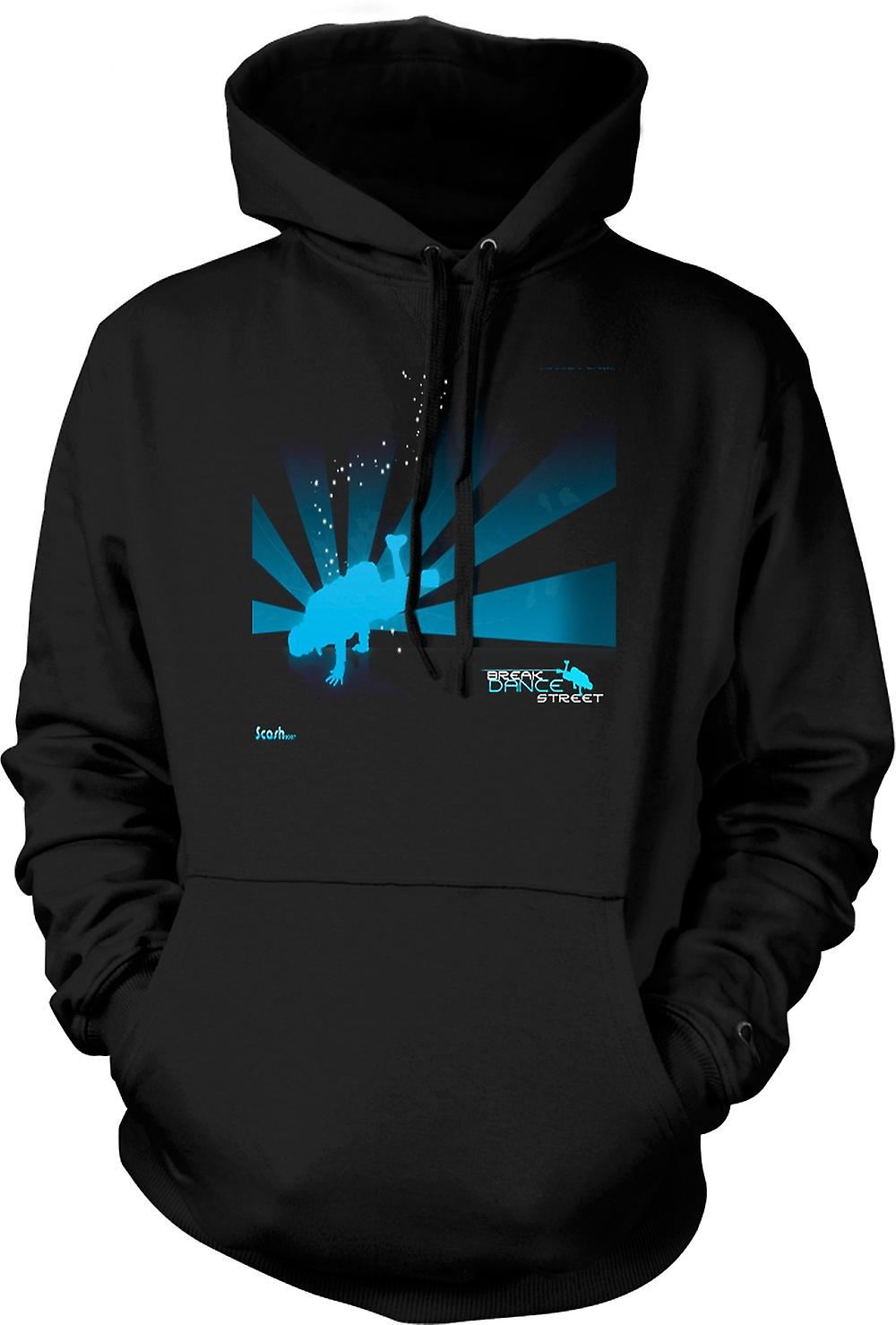 Mens Hoodie - Break Dance Street