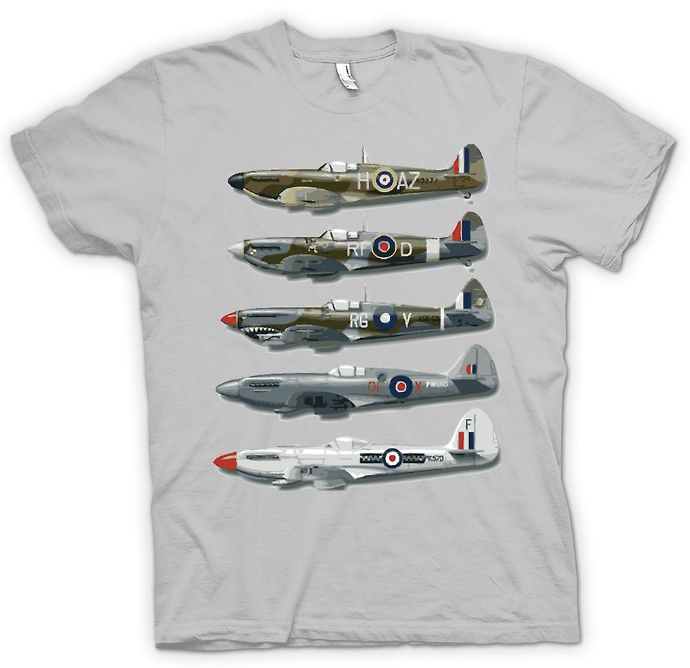 Mens T-shirt - 5 Spitfires Collage - Quote