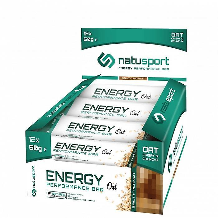 NatuSport Energy Performance Bar Oat-Salty Peanut (12 x 50 grams)