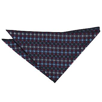Borgogna, blu & verde striata Polka Dot Pocket Square