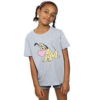 Disney jenter Pluto kjærlighet hjerte t-skjorte