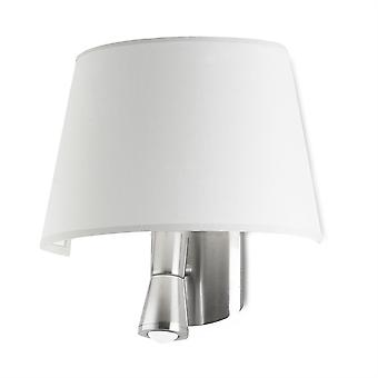 Balmoral Satin Nickel Wall Lamp With White Shade - Leds-C4 05-2814-81-14
