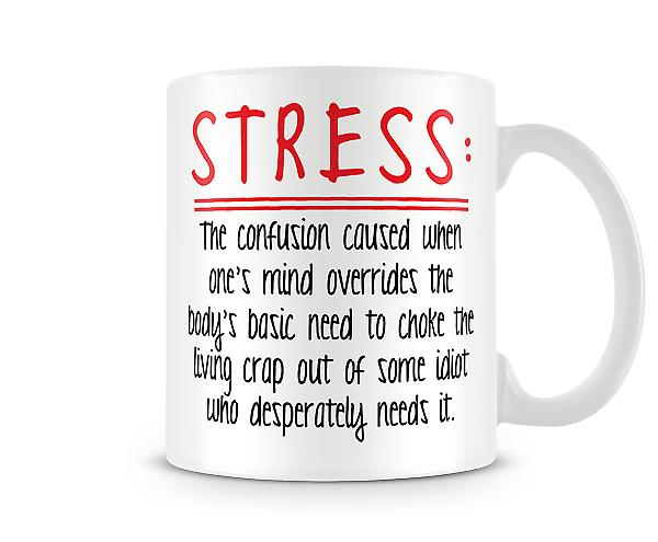 Decorative Writing Stress Printed Mug