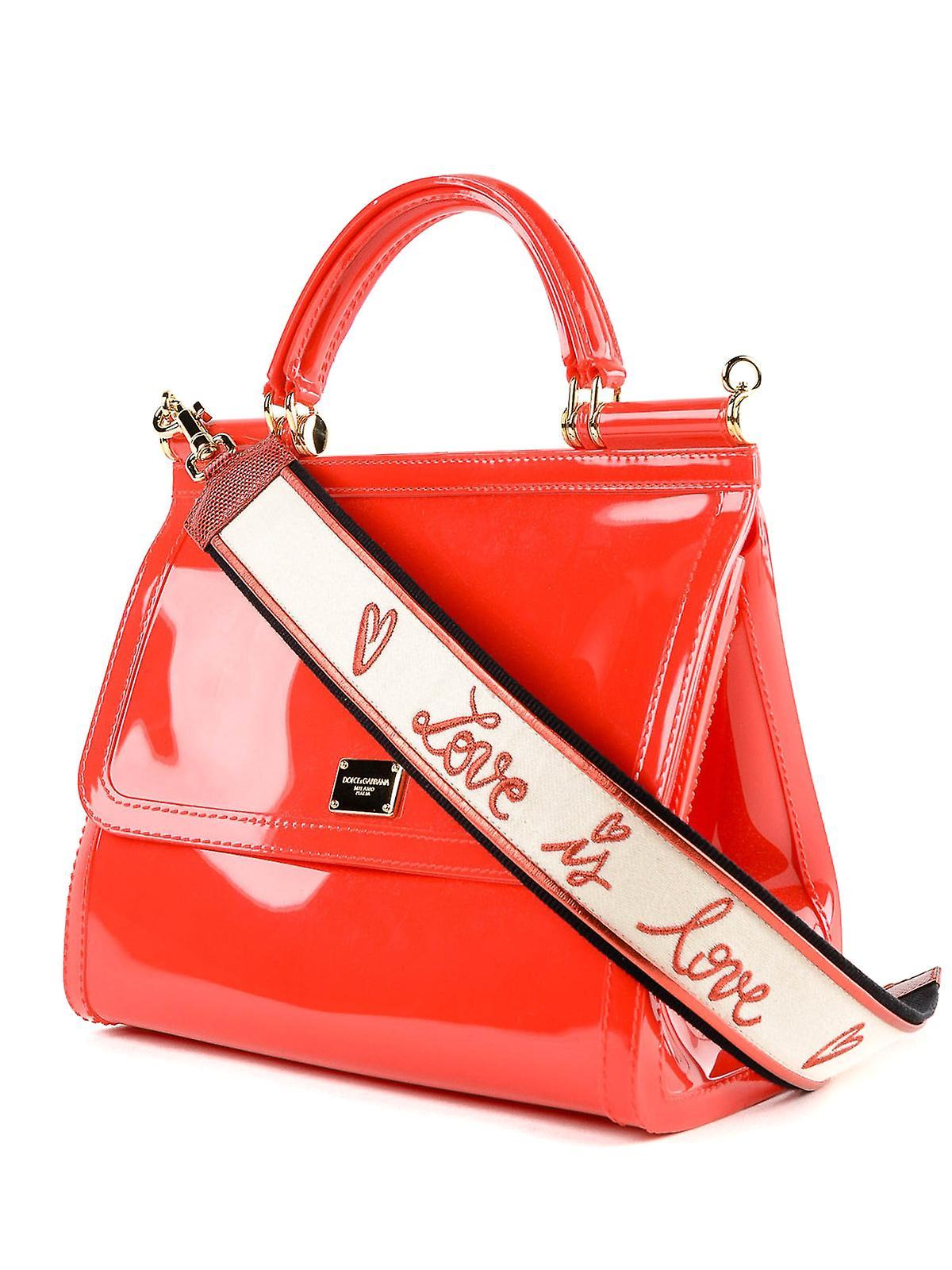 1a1f06015e8 Dolce E Gabbana Sicily Red Patent Leather Handbag | Fruugo