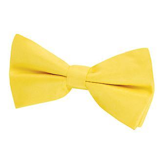 Dobell Mens Yellow Bow Tie Dupion Satin-Feel Pre-Tied