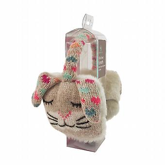 Cozy Ears Click & Heat Knitted Animal Ear Muffs: Rabbit