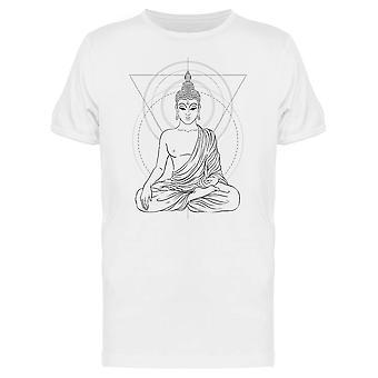 Sittende Buddha geometrisk stil tee menn-bilde av Shutterstock