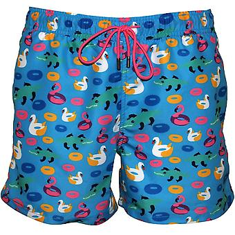 Happy Socks Pool Party Swim Shorts, Pool Blue