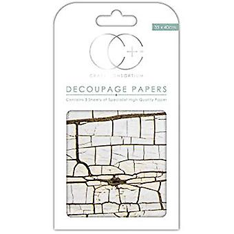 Craft Consortium Cracked Wood Decoupage Papers (CCDECP242)