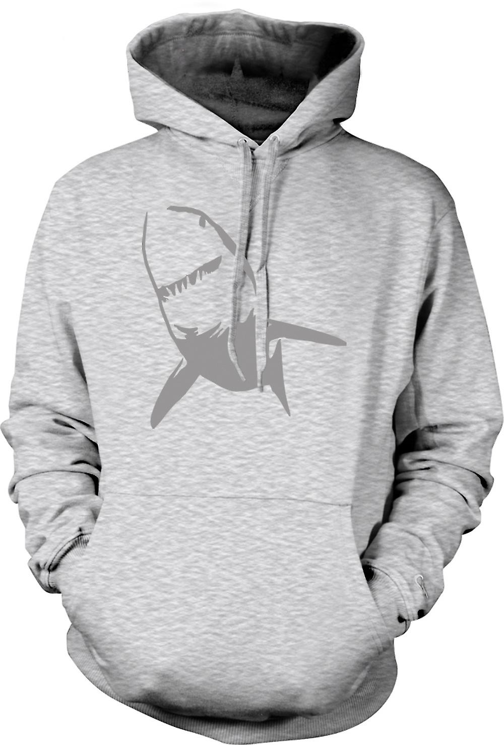Mens Hoodie - Great White Shark Killer