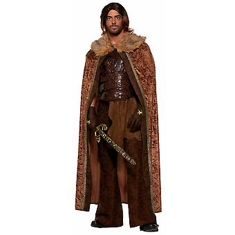 Medieval Warrior Viking Fantasy Game of Thrones Faux Fur Mens Costume Cape