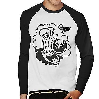 Grimmy Tuxedo grin miesten baseball pitkähihainen T-paita