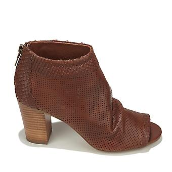 STEVEN by Steve Madden Womens Normandi Leather Peep Toe Ankle Fashion Boots