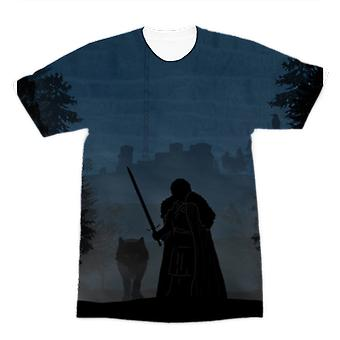 Game of thrones - jon neige premium sublimation adulte t-shirt