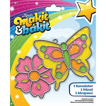 Makit & Bakit Suncatcher Kit-Butterfly & Flower TB-58593