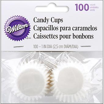 Glassine Coated Candy Cups White 100 Pkg 1