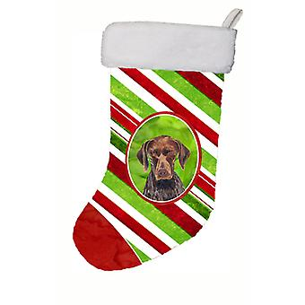 German Shorthaired Pointer Candy Cane Holiday   Christmas Stocking