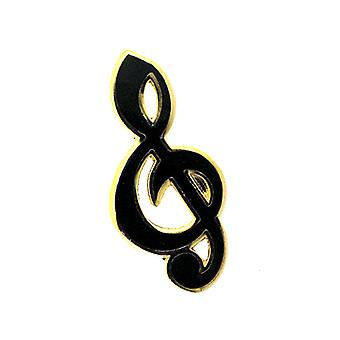 Fine Enamels Gold Plated Music Treble Clef Lapel Pin