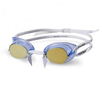 HEAD Swedish TPR Racing Swim Goggles - Mirrored Lens - Blue