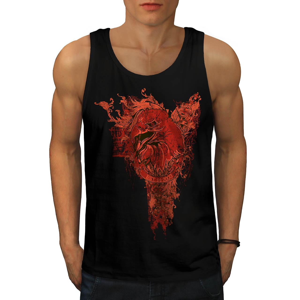 Grim Reaper Death Vintage Eagle Death Men Black Tank Top | Wellcoda