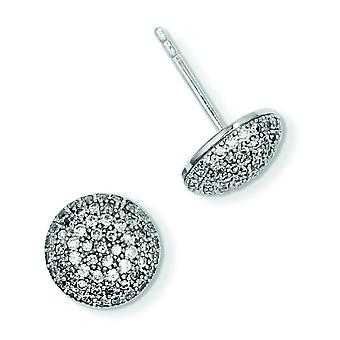 Sterling Silver and Cubic Zirconia Brilliant Embers Post Earrings