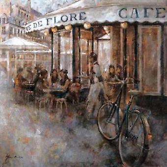 Cafe de Flore Paris plakatutskrift av Noemi Martin