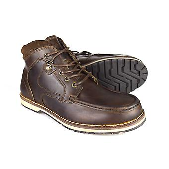 Red Tape Nore Men's Brown Leather Casual Worker Boots