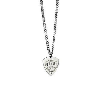 Guess men's chain necklace stainless steel Silver UMN21502