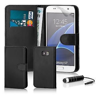Book tegnebog tilfaelde + stylus til Samsung Galaxy S7 (SM-G930) - sort