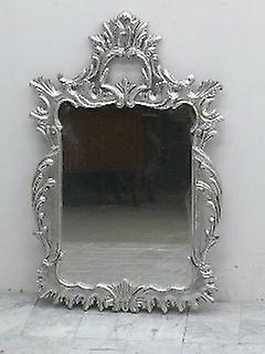 baroque mirror antique style leaved gold silver AlMi0165 si
