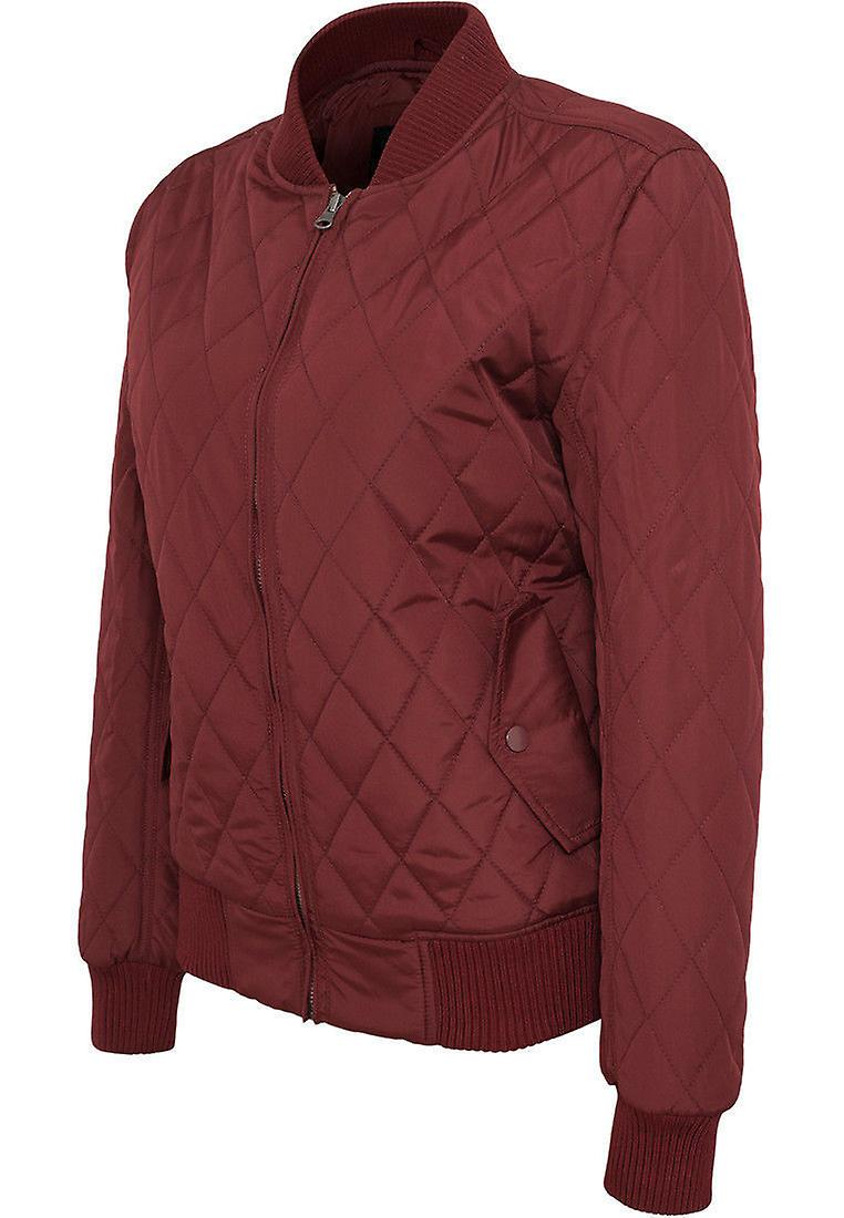 Urban classics ladies jacket diamond quilt