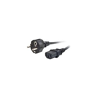 C2g Universal Power Cord power cable-CEE 7/7 (male) to IEC 60320 C13 (m)-3 m-molded-black-Europe