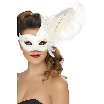 Ornate Colombian Eyemask white with spring