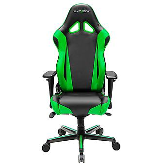 DX Racer DXRacer OH/RV001/NE High-Back Racing Style Office Chair Carbon Look Vinyl+PU(Black/Green)