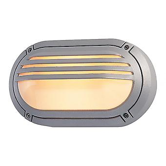 Firstlight Commercial Silver Graphite Outdoor Bulkhead Oval Light