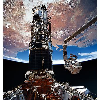 Hubble Telescope - Hoffman and Musgrave EVA5 Poster Print Giclee