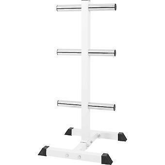 Hantelscheibenständer mit 3 Stangen 50/51 mm Weiß