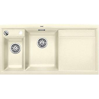 Blanco Axia Ii 6S sink and drainer jasmine right