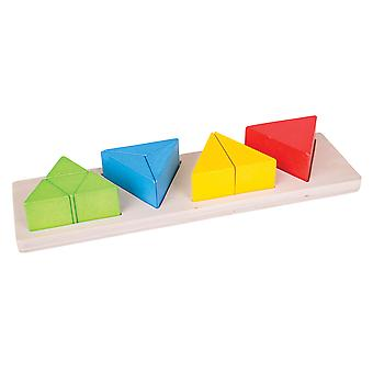 Bigjigs Toys Educational Wooden Triangle Fraction Board