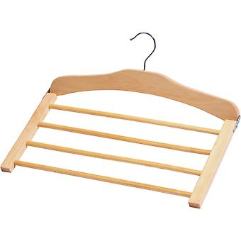 Closet Spice Wood 4 Tier Pant Hanger - Set of 2