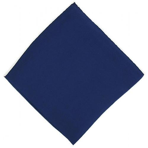 Michelsons of London Shoestring Border Handkerchief - Blue/White