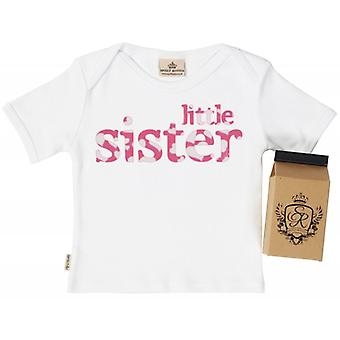 Spoilt Rotten Little Sister Babys T-Shirt 100% Organic In Milk Carton