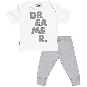 Spoilt Rotten Dreamer. Baby T-Shirt & Baby Jersey Trousers Outfit Set