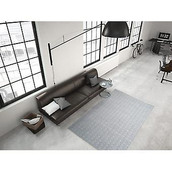 Modern flat pile rug hand-woven indoor and outdoor suitable blue ivory