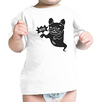 French Bulldog Shirt For Baby Graphic Tee White Cotton Infant Shirt