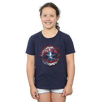 Marvel jenter Captain America borgerkrigen Hex skjold t-skjorte